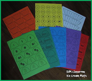 Ice cream math center printables