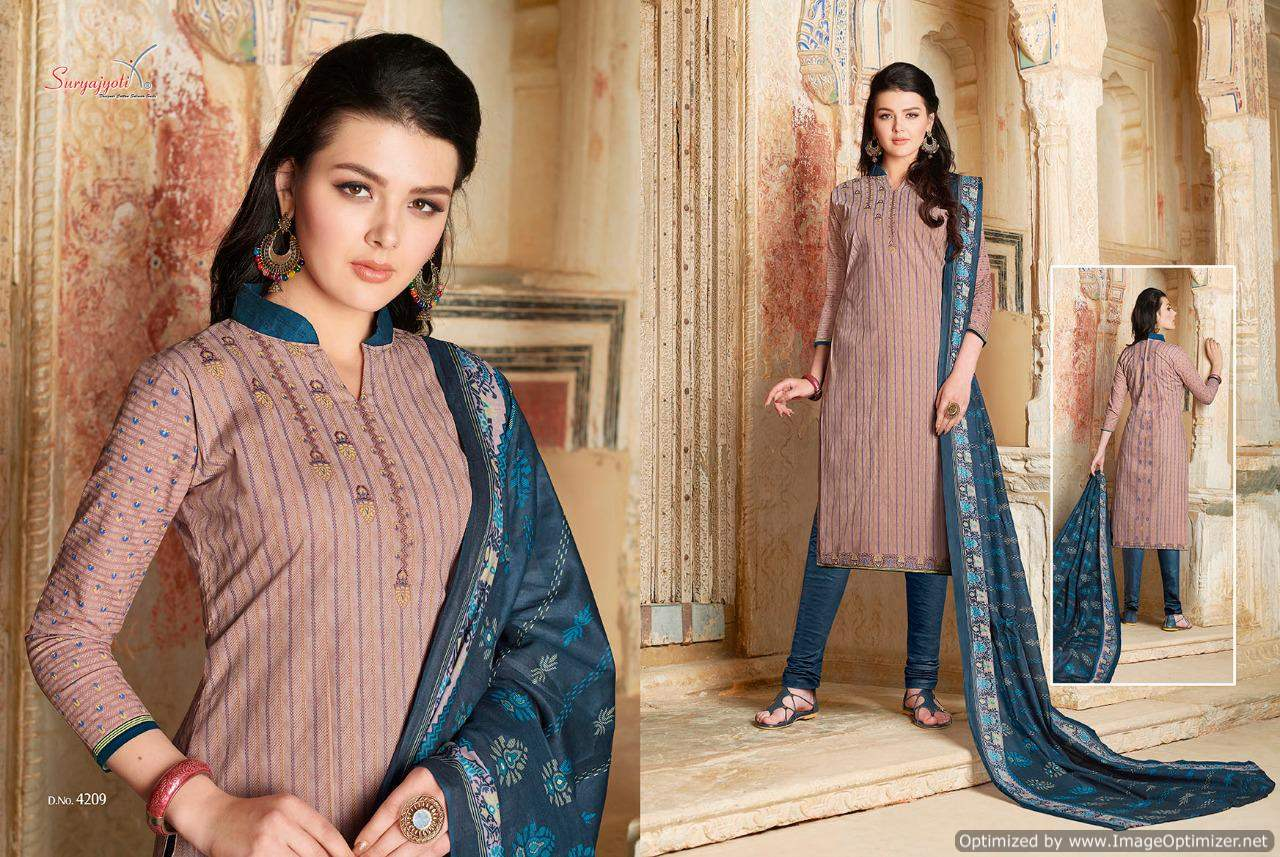 dc5f84fc5e Suryajyoti Trendy vol 42 Cotton Dress Material - Diwan fashion