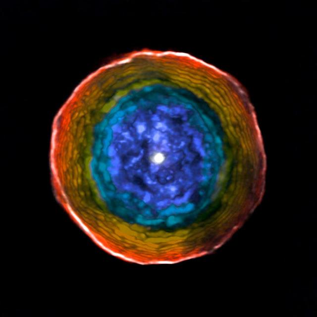 Bolha ao redor da estrela U Antliae registrada pelo Observatório ALMA - ESO
