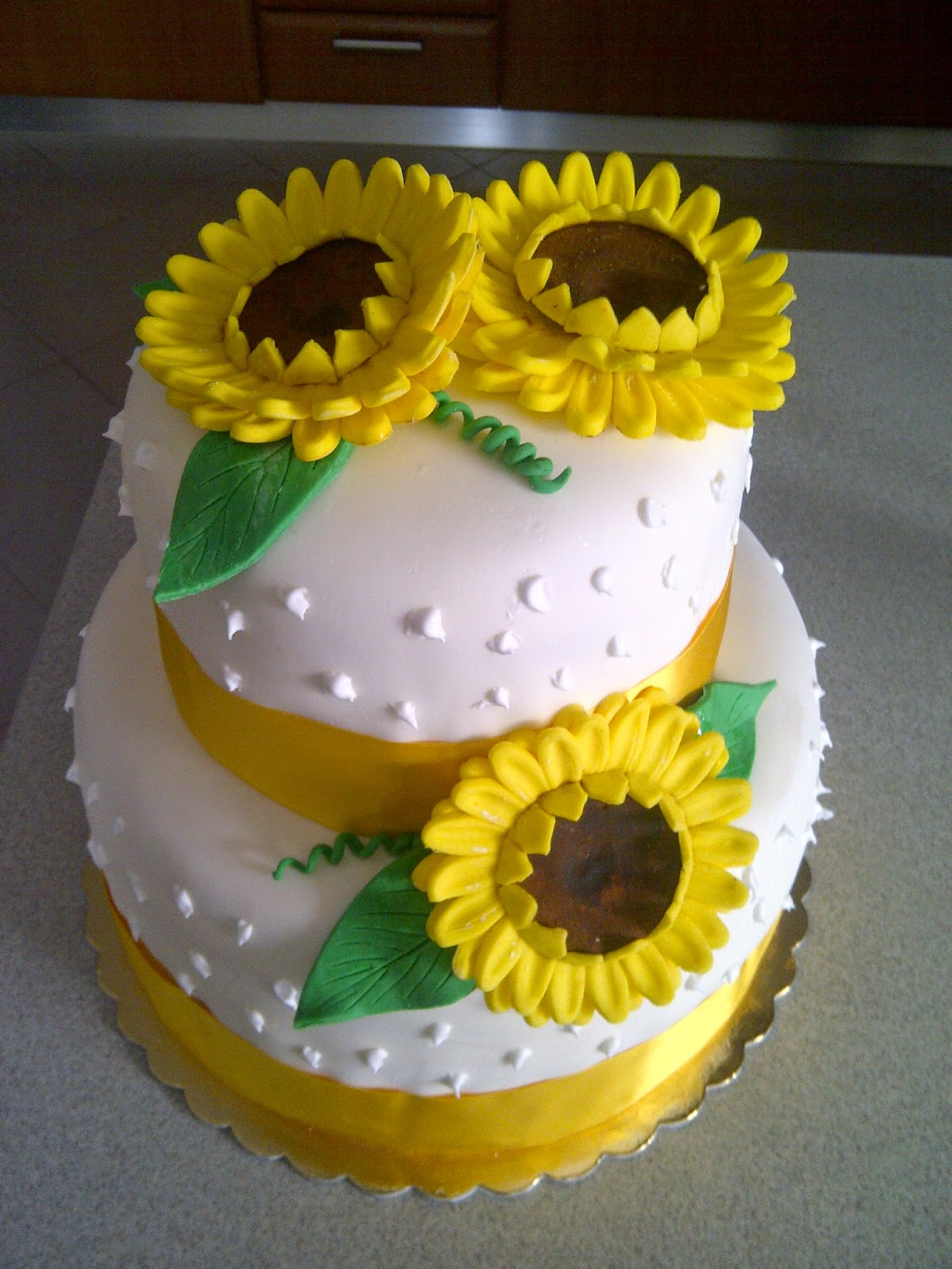 Torta Matrimonio Girasoli : Art sugar crystals torta pdz con girasoli