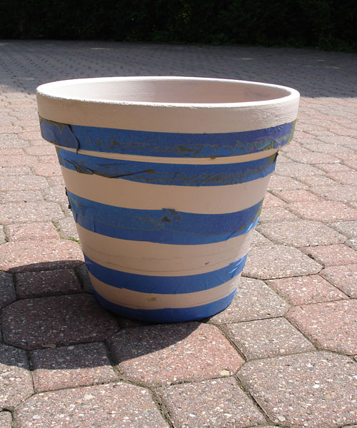 how to paint a terracotta garden pot