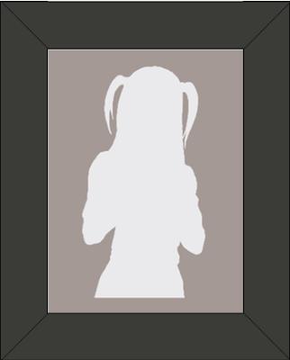 Cadre Silhouette de Misa Amane : Personnage Death Note