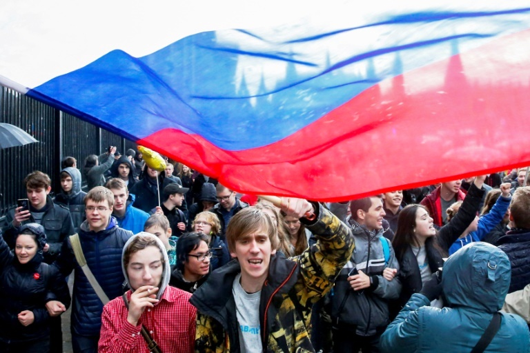 More than 1,000 people turned out despite the bad weather, AFP reporters said, while police put the number at 700 people including journalists.  Smaller rallies and pickets took place in other cities across Russia.