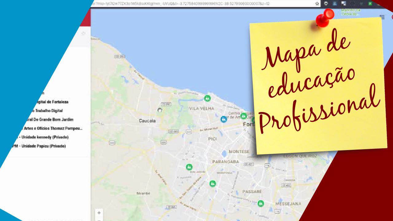 Mapa de educação profissional gratuita