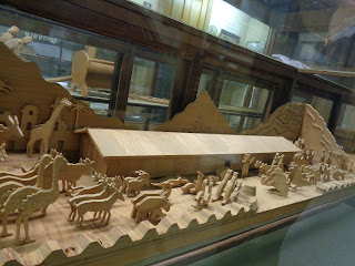 hand carved Noah's ark at Mennonite Heritage and Agricultural Museum