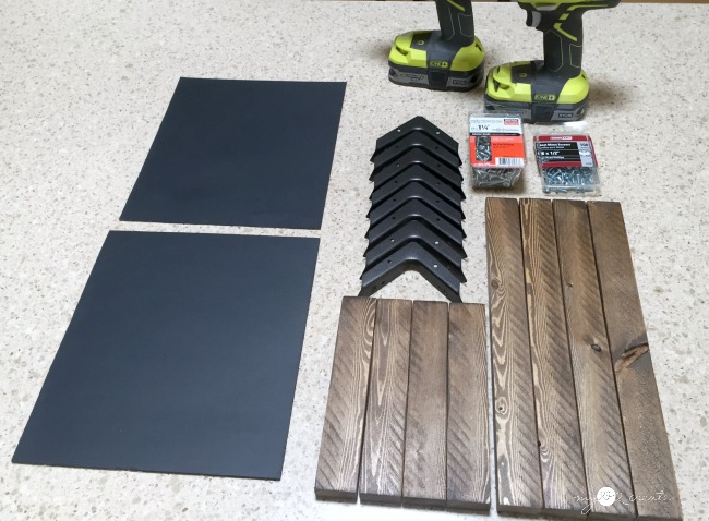 ready to build DIY Chalkboard Easel, MyLove2Create