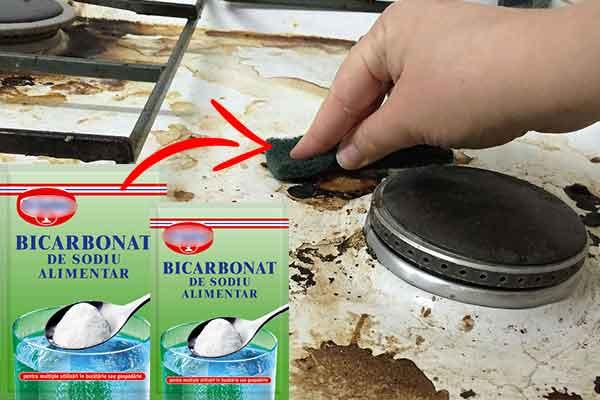cum sa faci curatenie cu bicarbonat de sodiu