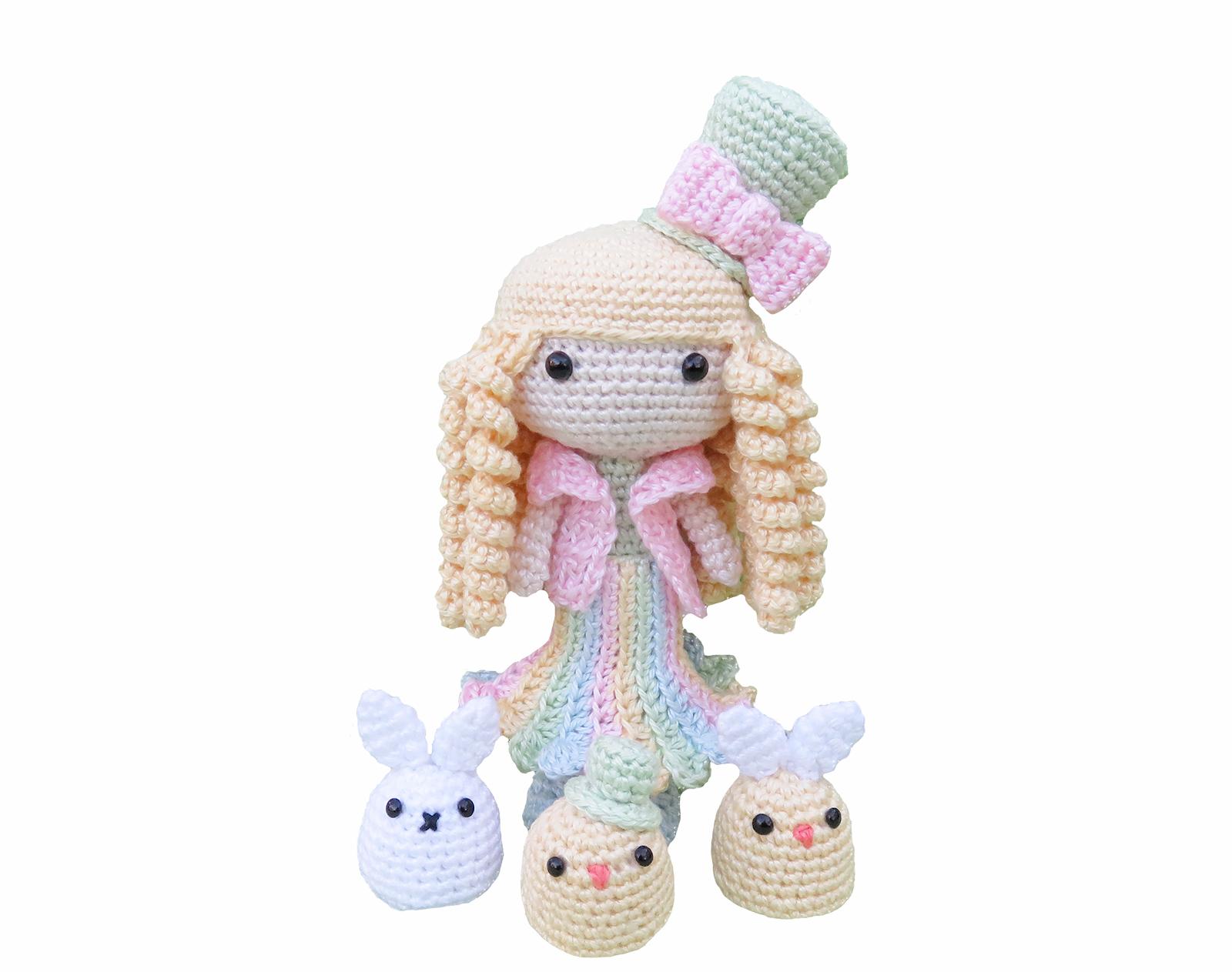 Frühlings-Puppe Amigurumi Häkelanleitung - Amigurumi ...