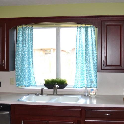 Kitchen Design Ideas: Aqua Kitchen Curtains