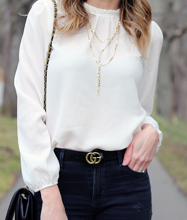 Forever 21 White Blouse #affordablefashion #whiteblouse