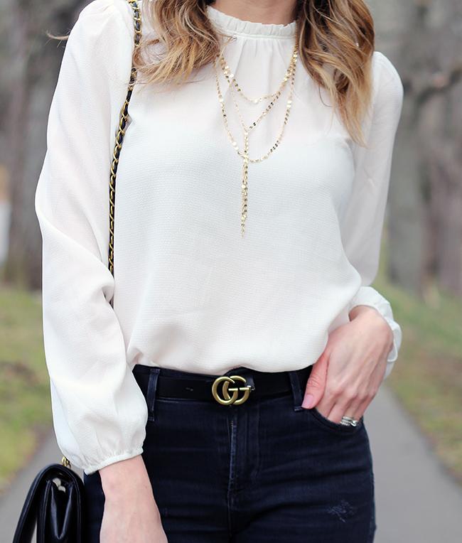 Forever 21 White Blouse #affordablefashion #whiteblouse