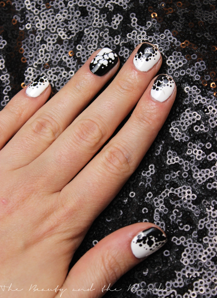 Black and white, Nailart, Naildesign, Dotting Tool, Ready, Set, Pooooliiish, Blogparade