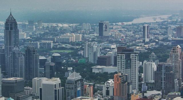 Baiyoke Tower 2, Bangkok desde las nubes
