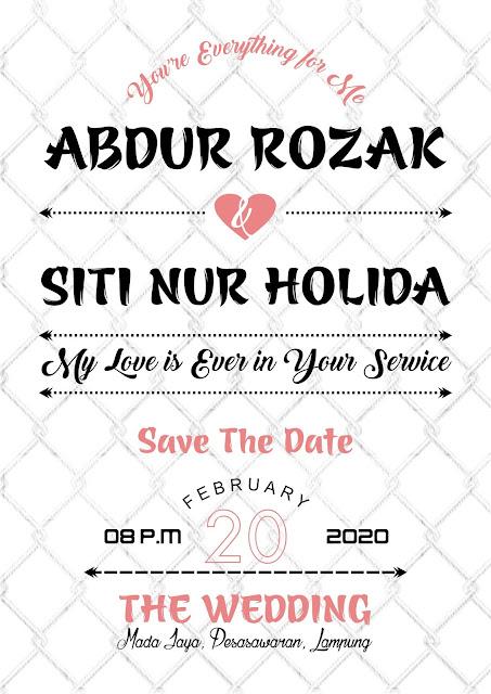 Desain Flyer Undangan Pernikahan Romantis