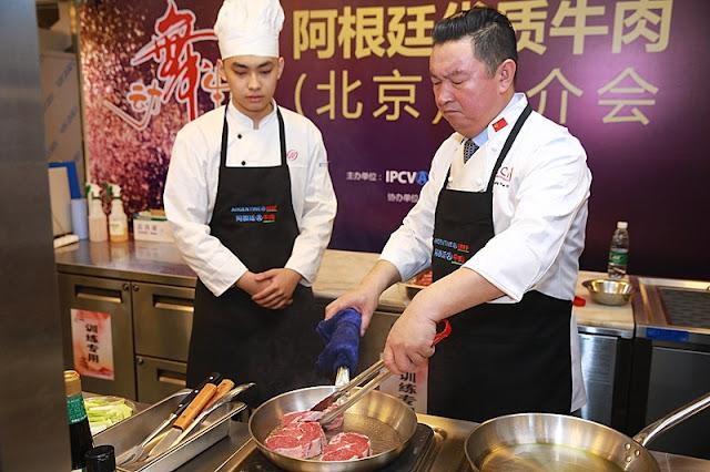 Promocionaron a la carne argentina entre los chefs de hoteles y restaurantes en China