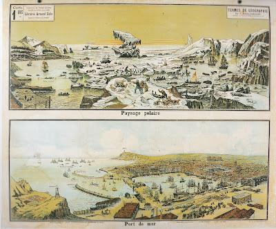 Planche de géographie Vidal-Lablache, Armand-Colin (collection musée)