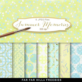 New Freebies Kit of Backgrounds - Summer Memories