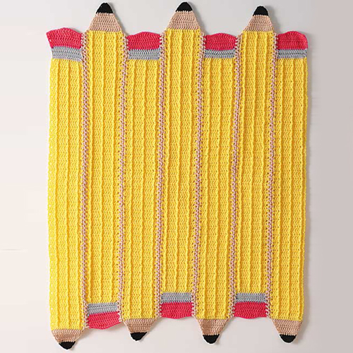 Crocheted Pencil Afghan - Free Pattern