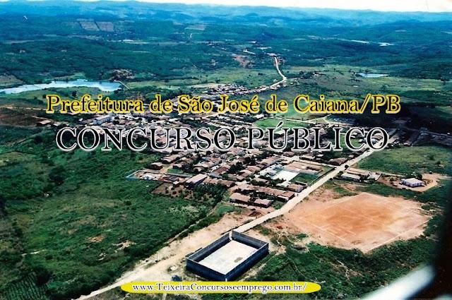 concurso da Prefeitura de São José de Caiana - PB abre 53 vagas