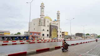 This huge mosque in Cotonou is the largest in whole Benin