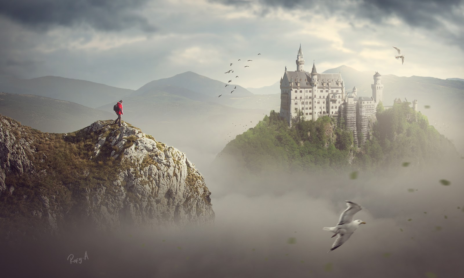 Photoshop Fantasy Landscape Compositing Photo Manipulation