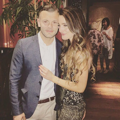 jack wilshere and girlfriend Adriani after he proposed
