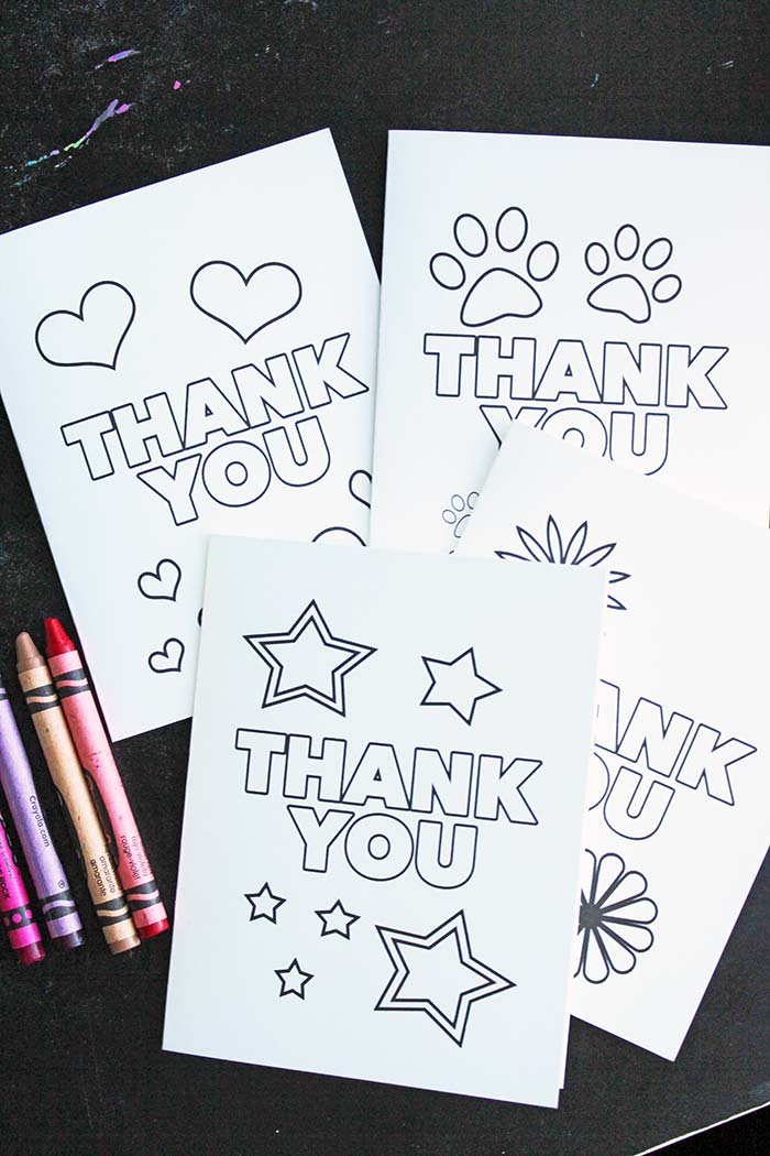 Free Printable Thank You Cards for Kids to Color  Send Sunny Day