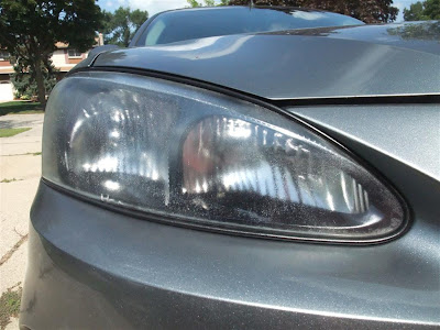 good as new headlights, fogged, car