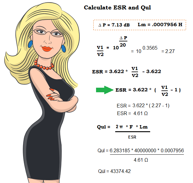 Equations to calculate the ESR and Qul.   Professor Natasha.