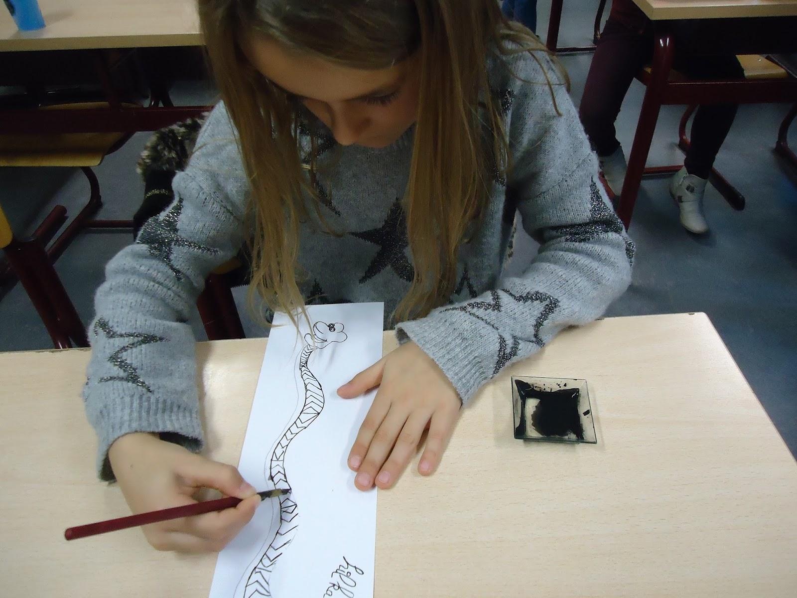 Beroemd Zilverberk 4D: Dierendag: een slang tekenen met Chinese inkt. PU87