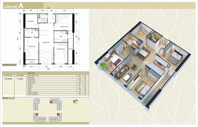 Thiết kế căn hộ A chung cư Eco Green City Nguyễn Xiển