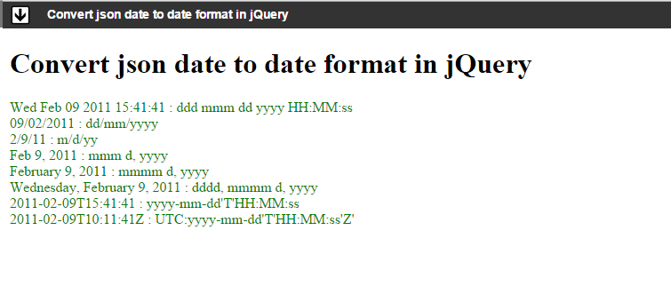 Convert json date to date format in jQuery - Angular