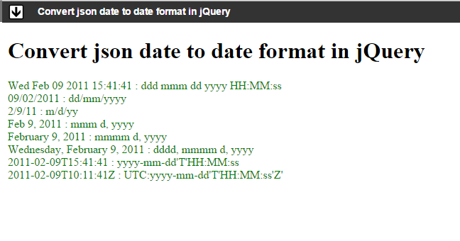 Convert json date to date format in jQuery - Angular, TypeScript
