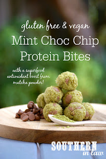 Matcha Mint Chocolate Chip Bliss Balls Recipe