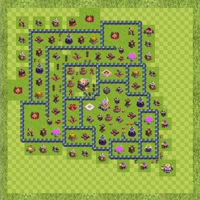 War Base Town Hall Level 11 By Tahsin Kaya (SPARTACUS TH 11 Layout)