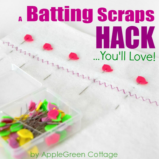 Learn how to join batting scraps. Make the most of leftover batting pieces - here's how.