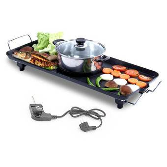 2 In 1 Electric Bbq Grill And Steamboat Rm175