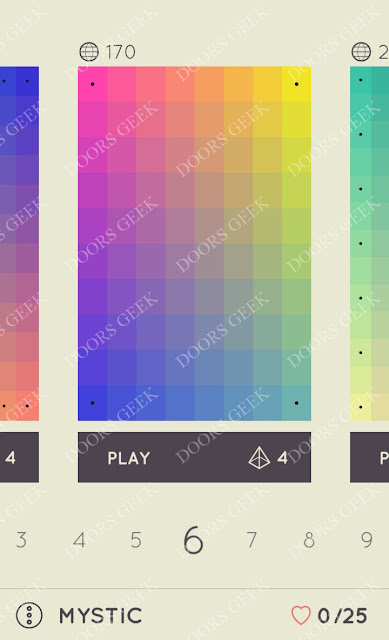 I Love Hue Mystic Level 6 Solution, Cheats, Walkthrough