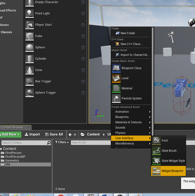 Ue4 start screen ui onlinedesignteacher there will be a little asterisk on the blueprint this means that it hasnt been saved yet so click the save all button just above it malvernweather Choice Image