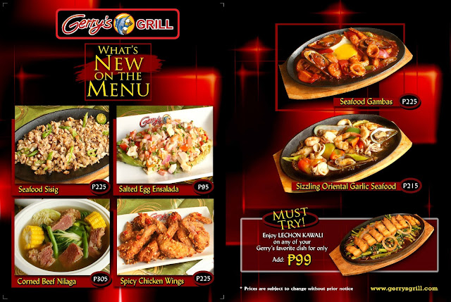 Gerrys Grill Press Release Whats New On The Menu