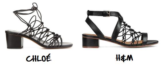 Clon sandalias Chloé H&M