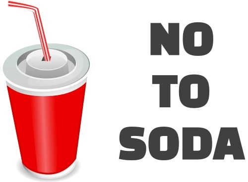 No to soda in fast food for frugal people to save money