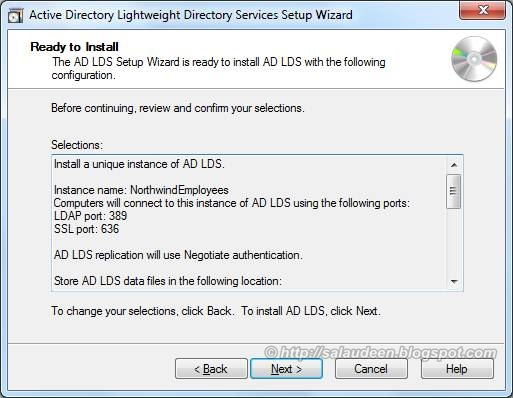 Install AD LDS LDIF Files