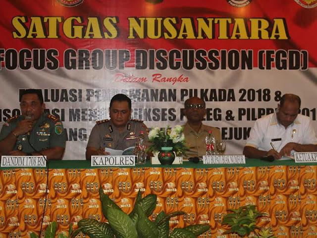 Satgas Nusantara Gelar FDG Pileg dan Pilpres 2019 di Biak Numfor