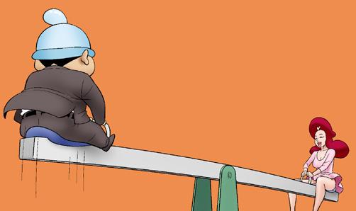 Kim Chi & Củ Cải (bộ mới) phần 272: Chơi bập bênh