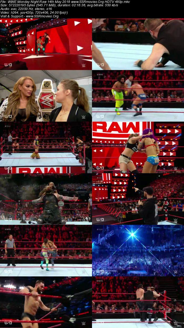 WWE Monday Night Raw 14th May 2018