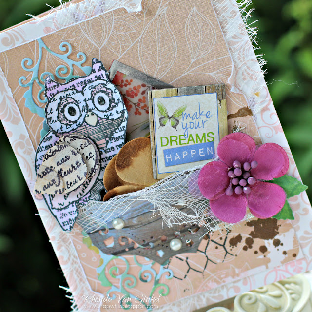 Make Your Dreams Happen Card featuring Butterfly Kisses and Blossoms by BoBunny designed by Rhonda Van Ginkel