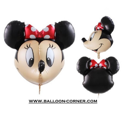 Balon Foil Karakter Mickey Mouse & Minnie Mouse 3D (3 Dimensi)