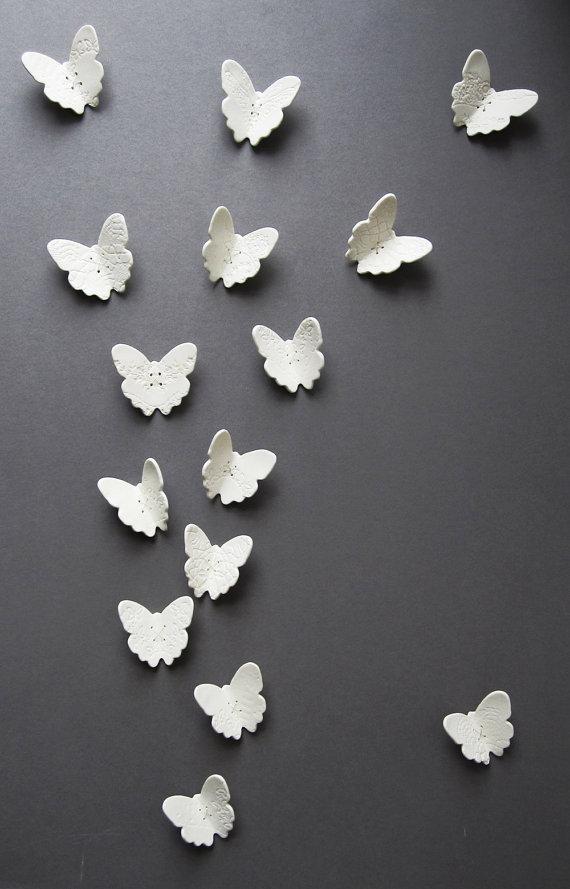 made con amor: diy clay butterfly wall decor