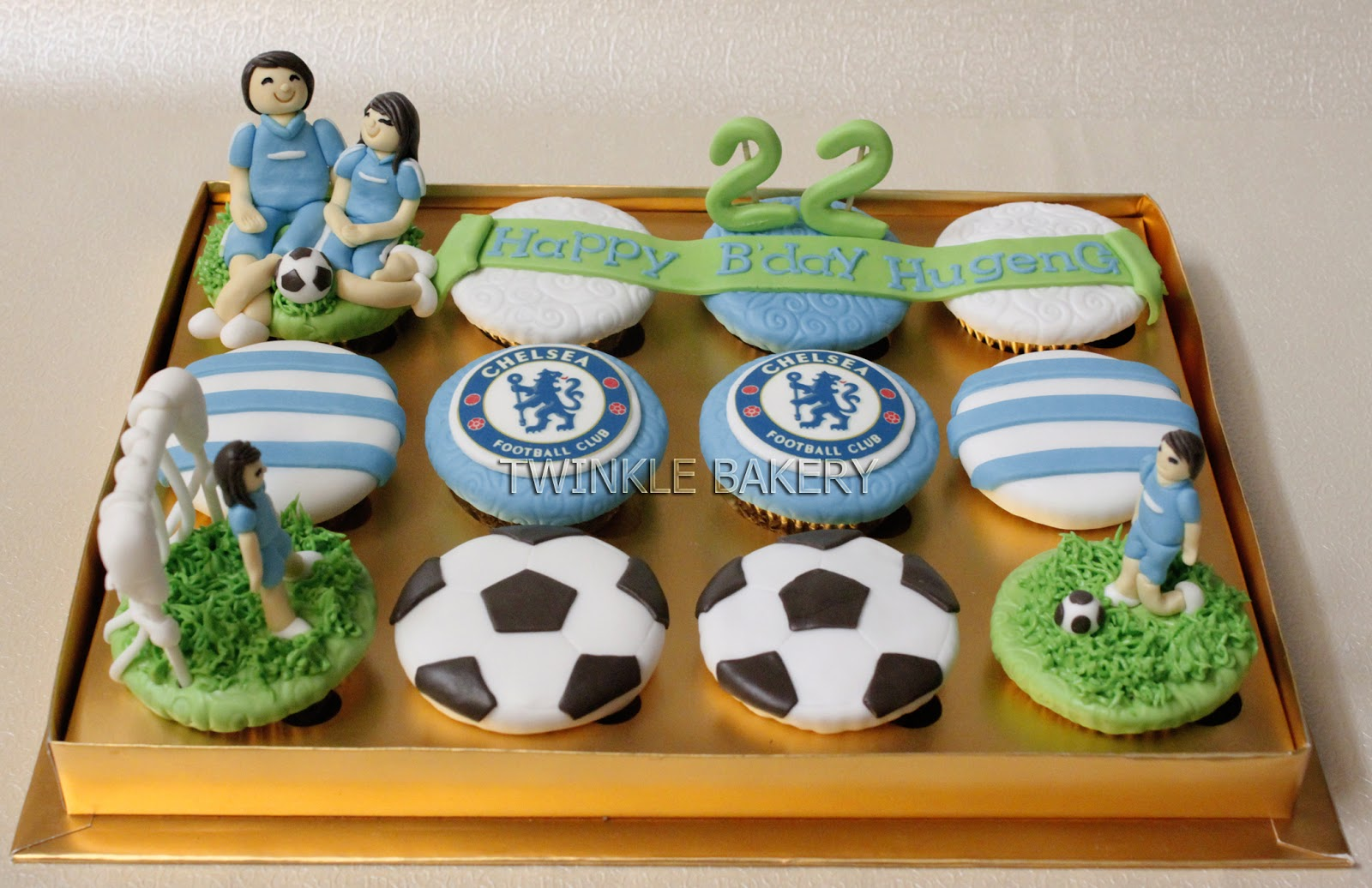 Twinkle Bakery Football Theme Cupcakes